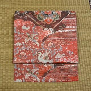 浅緋色に鳥と宝相華文 袋帯(帯)