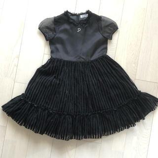ポンポネット(pom ponette)のポンポネット 140cm 発表会  黒フォーマルワンピース ドレス(ドレス/フォーマル)