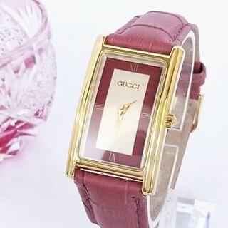 Gucci - 綺麗 グッチ 白×紫ピンク 新品レザー レディース 腕時計 ウォッチ 着物 美品