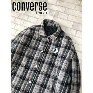 コンバース(CONVERSE)のConverse Tokyo リバーシブルコーチジャケット ウール M チェック(ナイロンジャケット)
