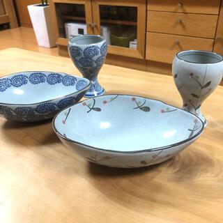 美濃焼き 器•グラス(小鉢) 4点セット 和食器(食器)