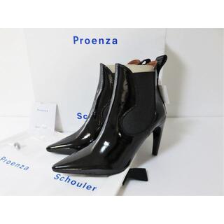 プロエンザスクーラー(Proenza Schouler)の定価12万 Proenza Schouler エナメル ブーティ 35.5 (ブーティ)