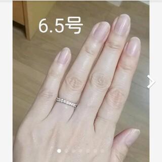 K18WG ダイヤモンドハーフエタニティリング 0.5ct(リング(指輪))