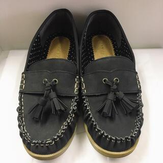 シマムラ(しまむら)のタッセル付きローファー Mサイズ 黒(ローファー/革靴)