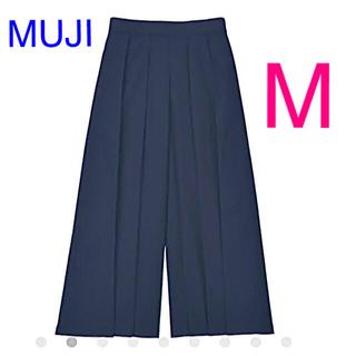 ムジルシリョウヒン(MUJI (無印良品))の新品 無印良品 乾きやすいストレッチ はかまパンツ 婦人・M   ネイビー(その他)
