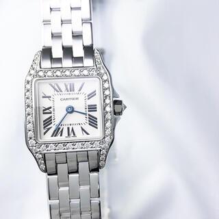Cartier - 【仕上済】カルティエ サントスドゥモワゼル シルバー ダイヤ レディース 時計