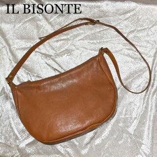 イルビゾンテ(IL BISONTE)のイルビゾンテ ショルダー バッグ 三日月 レディース レザー ブラウン(ショルダーバッグ)