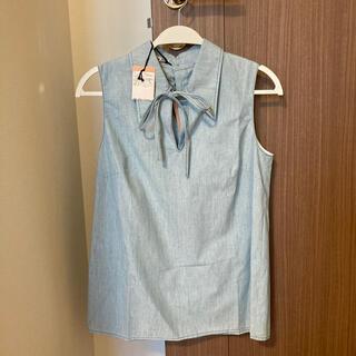 ミュウミュウ(miumiu)のmiumiu ミュウミュウ ダンガリーシャツ シャツ デニム(シャツ/ブラウス(長袖/七分))