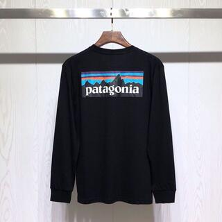 patagonia -  新品 Patagonia ロングTシャツXLサイズ  ブラック       黑