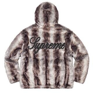 シュプリーム(Supreme)の極美品 Faux Fur Reversible Hooded Jacket M(ブルゾン)