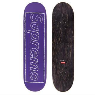 シュプリーム(Supreme)のsupreme KAWS Chalk Logo Skateboard カウズ(スケートボード)