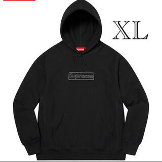 シュプリーム(Supreme)のKAWS Chalk Logo Hooded Sweatshirt ブラックXL(パーカー)