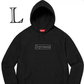 シュプリーム(Supreme)のSupreme KAWS Chalk Logo シュプリーム 黒 L(パーカー)