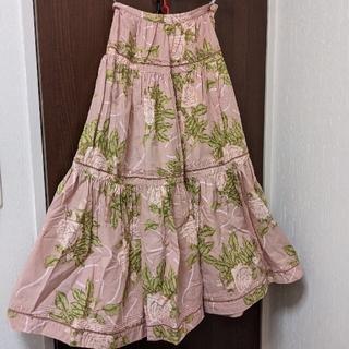 インゲボルグ(INGEBORG)のピンクハウスインゲボルグ薔薇柄スカート(ロングスカート)