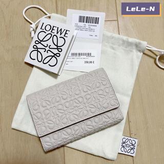 ロエベ(LOEWE)のLOEWE<新品レシート付き>REPEAT ロゴ スモールバーティカル財布 ♪(財布)