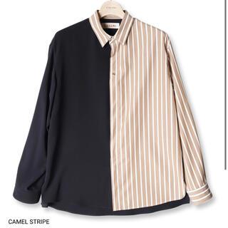 STUDIOUS - CULLNI 21ss ブロッキングストライプシャツ [キャメル・サイズ2]