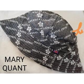 マリークワント(MARY QUANT)のMARY QUANT マリークワント 帽子 一回使用 ロゴ沢山♪デイジー柄♪(その他)