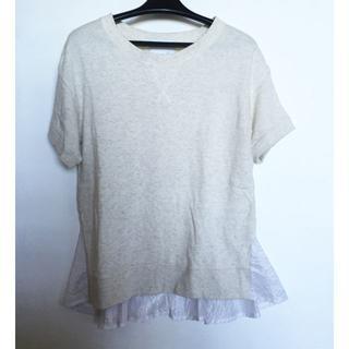 ドゥロワー(Drawer)の★sonoソーノ★バックフリルスウェットTシャツ半袖(Tシャツ(半袖/袖なし))