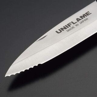 ユニフレーム(UNIFLAME)のユニフレーム ギザ刃 キャンプナイフ(調理器具)