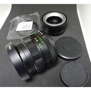 8 未使用 ぐるぐるボケ helios ヘリオス44M-4 アダプター付(レンズ(単焦点))