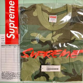 シュプリーム(Supreme)のSupreme Futura Logo Tee Woodland camo(Tシャツ/カットソー(半袖/袖なし))