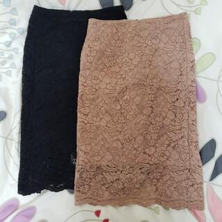 GU - 【Sサイズ×2枚】GUタイトスカート【黒・ピンク】