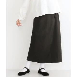 merlot - 【2/26まで】merlot スエードロングラップスカート ブラック