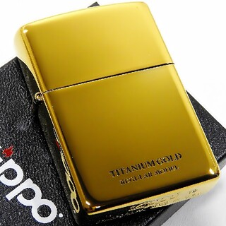 ジッポー(ZIPPO)の(送料込み)ZIPPO◇TITANIUM GOLD◇金タンク◇新品◇ジッポ(タバコグッズ)