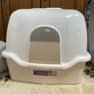 リッチェル(Richell)のリッチェル コロル 猫トイレ F60フード付き ベージュ(猫)