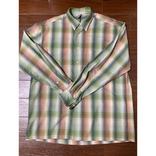 COMOLI - AURALEE SUPER LIGHT WOOL CHECK SHIRTS3