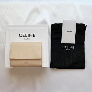 セリーヌ(celine)のCELINE  セリーヌ スモール トリフォールドウォレット  カーフスキン(財布)