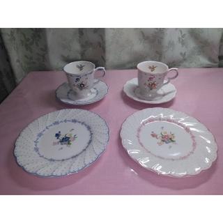 ニッコー(NIKKO)のNIKKO カップ & ソーサー & 皿 2客(食器)