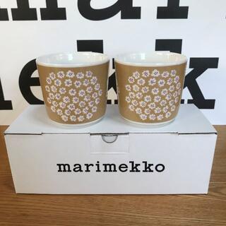 マリメッコ(marimekko)の新品 マリメッコ廃盤  ラテマグ2個プケッティ日本限定カラ(食器)