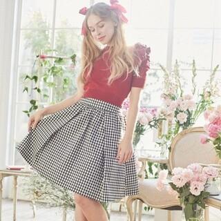 メゾンドフルール(Maison de FLEUR)の新品 メゾンドフルール ギンガムチェックボリュームスカ-ト スカート(ひざ丈スカート)