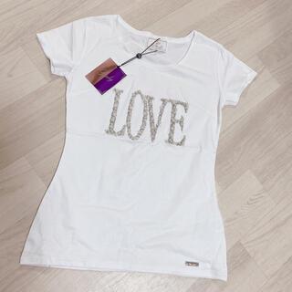 Rady - Rady 新品未使用タグ付き LOVE パールビジュー Tシャツ