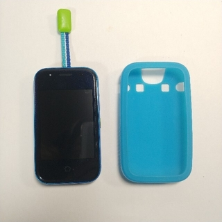 キョウセラ(京セラ)のau mamorino5  マモリーノ5  キッズ携帯 ブルー(携帯電話本体)