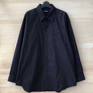 Balenciaga - BALENCIAGA スモールロゴ シャツ ブラック サイズ38