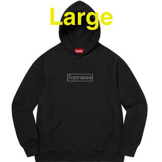 シュプリーム(Supreme)のSupreme × KAWS Chalk Logo Hooded (パーカー)
