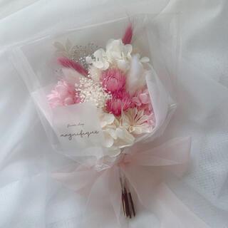 ピンク系 ドライフラワー 花束 ブーケ スワッグ ギフト ホワイトデー(ドライフラワー)