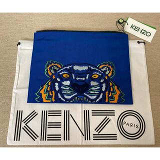 ケンゾー(KENZO)の新品 KENZO タイガーロゴ刺繍 クラッチバッグ ポーチ ケンゾー(セカンドバッグ/クラッチバッグ)