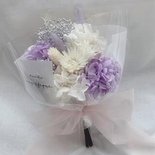 パープル系 ドライフラワー 花束 ブーケ スワッグ ギフト ホワイトデー(ドライフラワー)