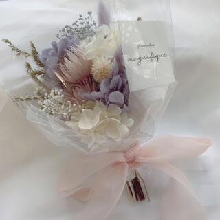 ラベンダー系 ドライフラワー 花束 ブーケ スワッグ ギフト (ドライフラワー)