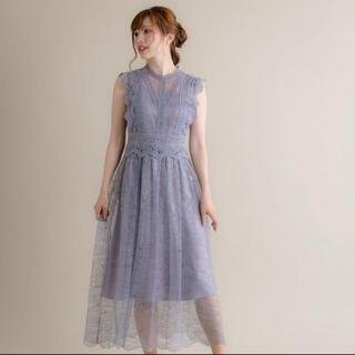 リリーブラウン(Lily Brown)のフレンチスリーブドレス(ロングドレス)
