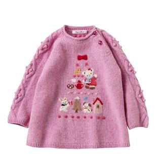 familiar - 定価以下★新品ファミリア即完売チュニック セーター ニット トップス 90