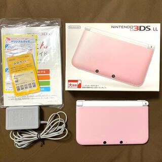 ニンテンドー3DS - Nintendo 3DS  LL 本体ピンク/ホワイト 箱有り 充電器有り
