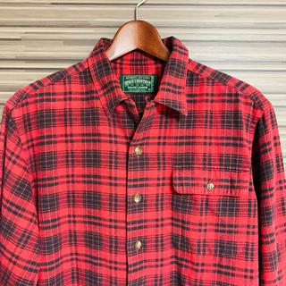 ポロラルフローレン(POLO RALPH LAUREN)のPOLOCOUNTRY ポロカントリー チェックシャツ ビンテージ  赤黒(シャツ)