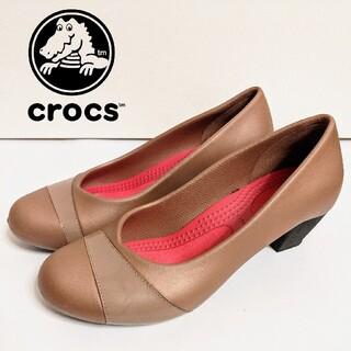 crocs - 【crocs】ジアンナ ヒール W7 ブロンズ