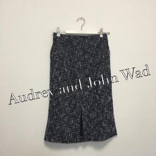 オードリーアンドジョンワッド(audrey and john wad)のAudrey and John Wad フリンジ タイトスカート(ロングスカート)
