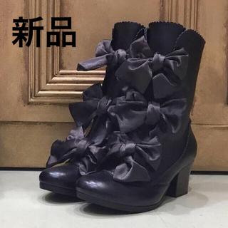 エミリーテンプルキュート(Emily Temple cute)の新品 エミリーテンプルキュート 本革ブーツ S ルルゲッタ イノセントワールド(ブーツ)
