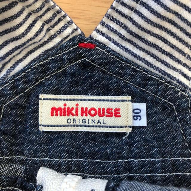 mikihouse(ミキハウス)のミキハウス オーバーオール デニム 90サイズ キッズ/ベビー/マタニティのキッズ服男の子用(90cm~)(その他)の商品写真
